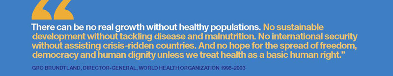 There can be no real growth without healthy populations.