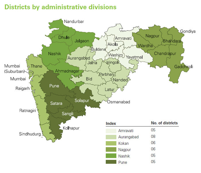 Maharashtra State Map India Health Education to Villages