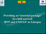Providing an 'essential package' for child survival: WFP and UNICEF in Ethiopia